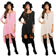 Lady Women Casual Loose Irregular Pleated Evening Cocktail Party Dress