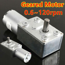 12V 0.6RPM-120RPM Reversible High Torque Turbo Worm Geared DC Motor Reduction
