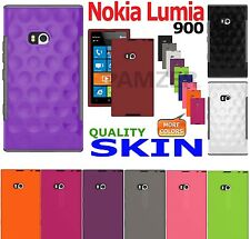 AMZER Silicone Soft Skin Fit Jelly Cover + extra Gel Case For Nokia Lumia 900