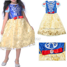 Girls Kids SNOW WHITE Fancy Dress Costume Fairy Princess Outfit Disney Dress-up