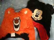 DISNEY  MICKEY MOUSE or TIGGER FLEECE LINED FURRY HAT NWTS ADORABLE