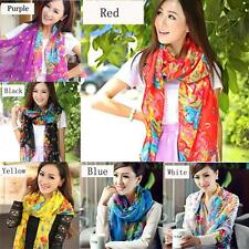 Women Large Floral Flowers Shawl Wrap Scarf