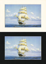 Flying Cloud Ship/Nautical/Maritime Print Mounted Cornelis de Vries A4 Cr/Bl/Wh