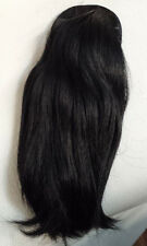 "Wire base push up/pull thru ponytail CMC Human Hair 11.5"" over 4oz Black #1"