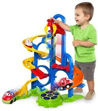 Bright Starts Car Racing Track activity toy for boys toddlers bouncer play 1xcar