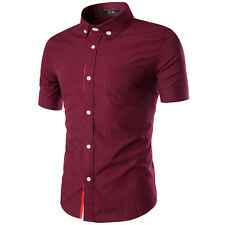 New Fashion Mens Luxury Business Stylish Classic Fit Casual Dress Shirts Tops