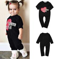 Baby Rompers Girl Boys One-piece Bodysuit Outfits Letter Pattern Clothes Set