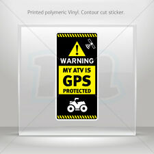 Decal Stickers Gps Protected Prevention Sign Atv Vehicle st5 X4RS6