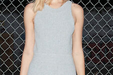 NWT 3.1 PHILLIP LIM Gray Textured Knit Sleeveless Slim & Flared Mini Dress $495