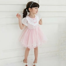 Toddler Kids Baby Girls Clothes Ruffle Tulle Tutu Princess Party Pageant Dress