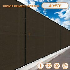 4'x50' Fence Windscreen Privacy Screen Shade Cover Fabric Mesh Garden Brass Ring