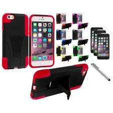 For Apple iPhone 6 (4.7) Hybrid Armor Case Stand+3X Screen Protector+Pen