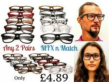 Any 2 PAIRS Timeless Fashion Retro Reading Glasses available in 10 Colours  TN49
