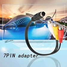 S-Video 7 Pin to 3 RCA Female RGB Component Cable Adapter for DVD TV/HDTV MP