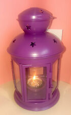 Ikea Rotera Purple Lantern Tealight Holder With Sparkly Scented Tealight