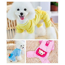 Dog Stripes Pajamas Coat Cat Puppy Cozy Clothes Clothing Apparel for Small Pet