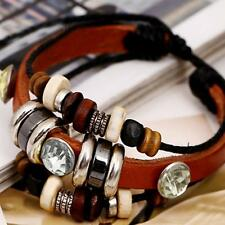 Wrap Fashion Accessories Jewelry Multilayer Bracelet PU Leather Bangle