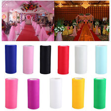 """Romantic Tulle Roll 6""""x25YD Netting Skirt Chair Sash Bow Table Runner Supplies"""