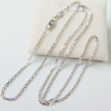 New Solid Platinum 950 Necklace Women's Gents Beauty Square Link Chain  Xlee