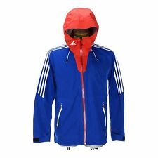 Adidas Mens Goretex Rain Jacket X-Country/Football/Sport Waterproof Hooded Coat