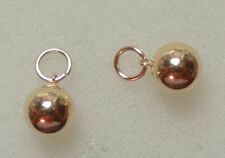 Seemless 6mm Hollow Balls INTERCHANGEABLE Earring Charms 14K Yellow Gold Filled