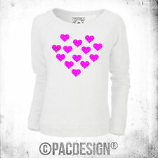 SWEATSHIRT WOMAN CHIC NERD NERDY FASHION POLKA DOT HEART FUCHSIA WHY SO VINTAGE