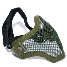 New Paintball Airsoft Gear Half Face Strike Metal Mesh Tactical Protective Mask