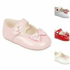 Baby Girls Pram Shoes, Christening Wedding Party, Gingham Bow Early Days Baypods