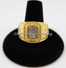 24K Gold Plated Men's 6 Crystals Ring
