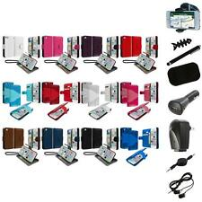 For iPhone 5C Leather Wallet Pouch Case Cover Credit Card ID Holder+8X Accessory