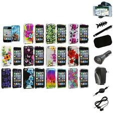 Flower Design Hard Case Cover Accessory+8X Accessory for iPod Touch 4th Gen 4G 4