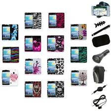 For LG Lucid 2 VS870 Color Hard Design Rubberized Case Cover+8X Accessory