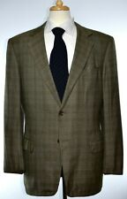 Ermenegildo Zegna Mens 2-BTN Green Plaid 15 MilMil 15 Wool Sport Coat Size 42 L