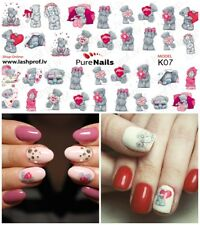 Nail Art Water Transfers Decals Stickers Slider LOVE Normal Size 5x7cm EU Seller