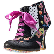 Irregular Choice Blair Elfglow Womens Shoes Black Floral New Shoes