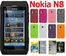 AMZER Silicone Skin Jelly Soft Cover + extra Case/ Screen Protector For Nokia N8
