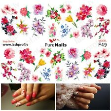 Nail Art Water Transfers Decals Stickers Slider ELEGANCE Normal Size 5x7cm EU
