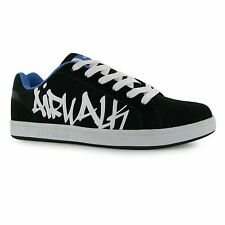 Airwalk Neptune Skate Shoes Mens Black/Blue Casual Trainers Sneakers
