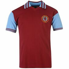 Aston Villa FC 1981 Home Jersey Score Draw Mens Claret Retro Football Soccer Top