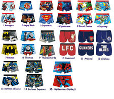 BNWT Boys Official Character Underwear Boxer Trunks 4-10 years