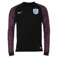 Nike England Home Mens Goalkeeper Jersey 2016 Black Football Soccer Shirt Top