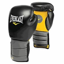 Everlast Catch Release Boxing Training Gloves Black MMA Muai Thai Gym Fitness