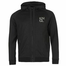 Kangol KNGL Full Zip Hoody Mens Charcoal Hoodie Sweatshirt Jacket