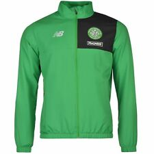 New Balance Celtic Presentation Jacket Mens Green Football Soccer Tracksuit Top