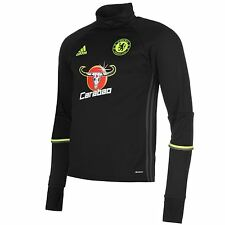 Adidas Chelsea FC Training Top Mens Black/Yellow Football Soccer Shirt