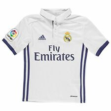 Adidas Real Madrid Home Jersey 2016 2017 Juniors White Football Soccer Top Shirt