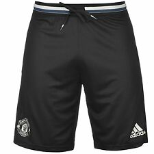 Adidas Manchester United FC Training Shorts Mens Black/White Football Soccer