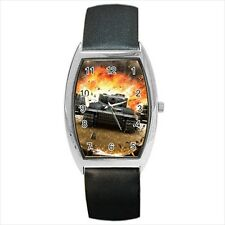 World of Tanks Barrel Style Watch (Leather & Stainless Steel Straps)
