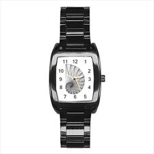 Fibonacci Spiral Pencil Barrel Style Watch (Leather & Stainless Steel Straps)