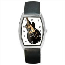 Gibson Guitars Barrel Style Watch (Leather & Stainless Steel Straps)